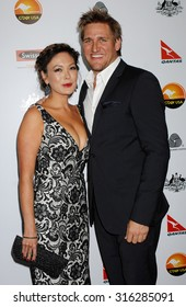 LOS ANGELES - JAN 12 - Lindsay Price and Curtis Stone arrives at the 2013 GDay USA Los Angeles Black Tie Gala  on January 12, 2013 in Los Angeles, CA