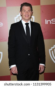 LOS ANGELES - JAN 13:  Bobby Flay arrives to the WB/In Style Golden Globe Party  on January 13, 2013 in Hollywood, CA