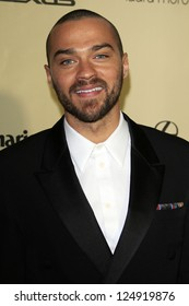 LOS ANGELES - JAN 13:  Jesse Williams arrives at the 2013 Weinstein Post Golden Globe Party at Beverly Hilton Hotel on January 13, 2013 in Beverly Hills, CA..