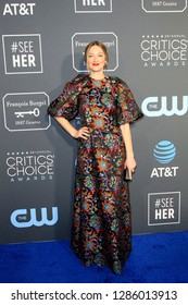 LOS ANGELES - JAN 13:  Judy Greer at the Critics Choice Awards  at the Barker Hanger on January 13, 2019 in Santa Monica, CA