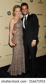LOS ANGELES - JAN 13 - Julie Benz and husband Rich Orosco arrives at the 2013 Weinstein Company Golden Globes After Party  on January 13, 2013 in Beverly Hills, CA