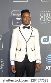 LOS ANGELES - JAN 13:  Stephan James at the Critics Choice Awards  at the Barker Hanger on January 13, 2019 in Santa Monica, CA