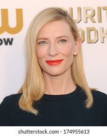 LOS ANGELES - JAN 16:  Cate Blanchett arrives to the Critics' Choice Movie Awards 2014  on January 16, 2014 in Santa Monica, CA