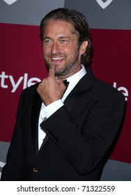 LOS ANGELES - JAN 16:  Gerard Butler arrives to the 12th Annual WB-In Style Golden Globe After Party  on January 16, 2011 in Beverly Hills CA