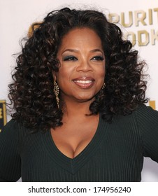 LOS ANGELES - JAN 16:  Oprah Winfrey arrives to the Critics' Choice Movie Awards 2014  on January 16, 2014 in Santa Monica, CA