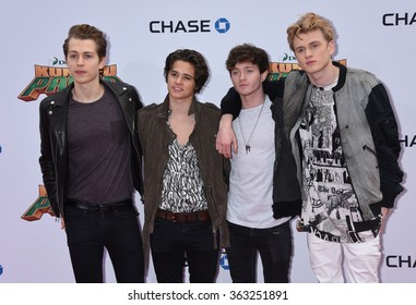 LOS ANGELES - JAN 16 - The Vamps arrives at the Kung Fu Panda 3 World Premiere on January 16,  2016 in Hollywood, CA