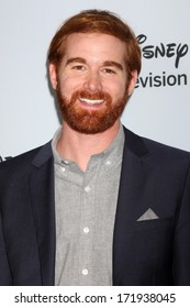 LOS ANGELES - JAN 17:  Andrew Santino at the Disney-ABC Television Group 2014 Winter Press Tour Party Arrivals at The Langham Huntington on January 17, 2014 in Pasadena, CA