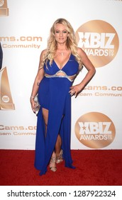 LOS ANGELES - JAN 17:  Stormy Daniels at the 2019 XBIZ Awards at the Westin Bonaventure Hotel on January 17, 2019 in Los Angeles, CA