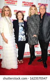 """LOS ANGELES - JAN 18: Donna Mills, Donna Pescow, Teresa Ganzel, Billy Van Zandt at the Hollywood Museum's celebration for the 40th Anniversary of """"Knots Landing"""" on January 18, 2020 in Los Angeles, CA"""