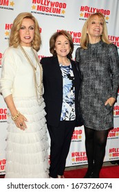 """LOS ANGELES - JAN 18:  Donna Mills, Donna Pescow, Teresa Ganzel at the 40th Anniversary of """"Knots Landing"""" Celebration at the Hollywood Museum on January 18, 2020 in Los Angeles, CA"""