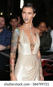 """LOS ANGELES - JAN 19:  Ruby Rose at the """"xXx: Return Of Xander Cage"""" Premiere at TCL Chinese Theater IMAX on January 19, 2017 in Los Angeles, CA"""