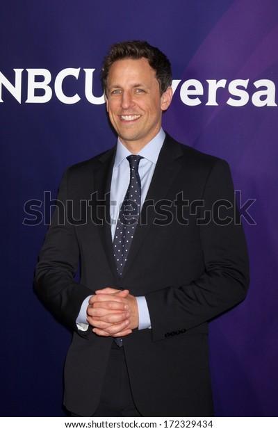 LOS ANGELES - JAN 19:  Seth Meyers at the NBC TCA 2014 Winter Press Tour at The Langham Huntington Hotel on January 19, 2014 in Pasadena, CA