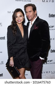 LOS ANGELES - JAN 20:  Jessica Meraz and Phillip P. Keene arrives for the EW Magazine honors SAG Nominees on January 20, 2018 in West Hollywood, CA