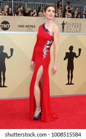 LOS ANGELES - JAN 21:  Alison Brie at the 24th Screen Actors Guild Awards - Press Room at Shrine Auditorium on January 21, 2018 in Los Angeles, CA