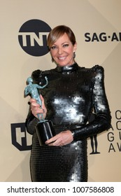 LOS ANGELES - JAN 21:  Allison Janney at the 24th Screen Actors Guild Awards - Press Room at Shrine Auditorium on January 21, 2018 in Los Angeles, CA