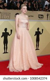 LOS ANGELES - JAN 21:  Dakota Fanning at the 24th Screen Actors Guild Awards - Press Room at Shrine Auditorium on January 21, 2018 in Los Angeles, CA