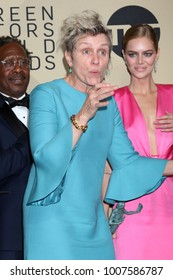 LOS ANGELES - JAN 21:  Frances McDormand at the 24th Screen Actors Guild Awards - Press Room at Shrine Auditorium on January 21, 2018 in Los Angeles, CA