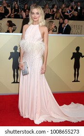 LOS ANGELES - JAN 21:  Margot Robbie at the 24th Screen Actors Guild Awards - Press Room at Shrine Auditorium on January 21, 2018 in Los Angeles, CA