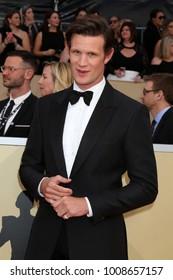 LOS ANGELES - JAN 21:  Matt Smith at the 24th Screen Actors Guild Awards - Press Room at Shrine Auditorium on January 21, 2018 in Los Angeles, CA