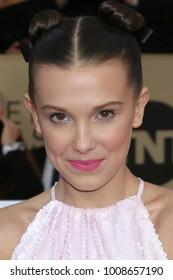LOS ANGELES - JAN 21:  Millie Bobbie Brown at the 24th Screen Actors Guild Awards - Press Room at Shrine Auditorium on January 21, 2018 in Los Angeles, CA