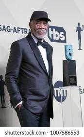 LOS ANGELES - JAN 21:  Morgan Freeman at the 24th Screen Actors Guild Awards - Press Room at Shrine Auditorium on January 21, 2018 in Los Angeles, CA