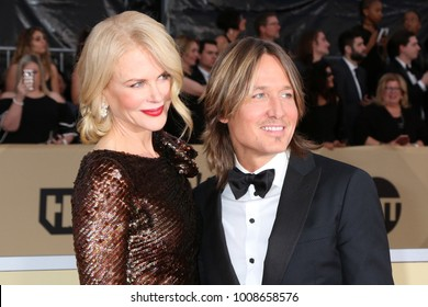 LOS ANGELES - JAN 21:  Nicole Kidman, Keith Urban at the 24th Screen Actors Guild Awards - Press Room at Shrine Auditorium on January 21, 2018 in Los Angeles, CA