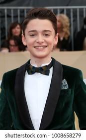 LOS ANGELES - JAN 21:  Noah Schnapp at the 24th Screen Actors Guild Awards - Press Room at Shrine Auditorium on January 21, 2018 in Los Angeles, CA