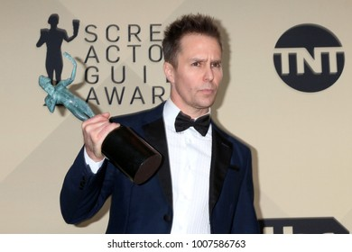 LOS ANGELES - JAN 21:  Sam Rockwell at the 24th Screen Actors Guild Awards - Press Room at Shrine Auditorium on January 21, 2018 in Los Angeles, CA