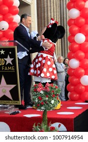 LOS ANGELES - JAN 22:  Bob Iger, Minnie Mouse at the Minnie Mouse Star Ceremony on the Hollywood Walk of Fame on January 22, 2018 in Hollywood, CA