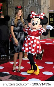 LOS ANGELES - JAN 22:  Heidi Klum, Minnie Mouse at the Minnie Mouse Star Ceremony on the Hollywood Walk of Fame on January 22, 2018 in Hollywood, CA