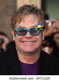 """LOS ANGELES - JAN 23:  Elton John arrives at the """"Gnomeo & Juliet"""" World Premiere on January 23, 2011 in Los Angeles, CA"""