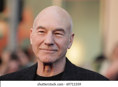"""LOS ANGELES - JAN 23:  Patrick Stewart arrives at the """"Gnomeo & Juliet"""" World Premiere on January 23, 2011 in Los Angeles, CA"""