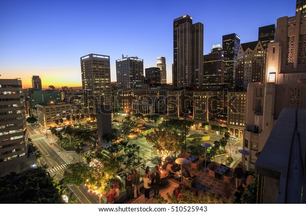 Los Angeles, JAN 25: Dinner at the roof of Perch on JAN 25, 2015 at Los Angeles, California