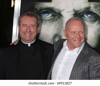 """LOS ANGELES - JAN 26:  Gary Thomas; Anthony Hopkins arrives at """"The Rite"""" Premiere at Grauman's Chinese Theater on January 26, 2011 in Los Angeles, CA"""