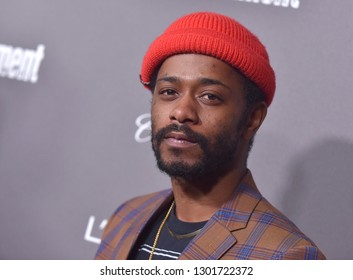 LOS ANGELES - JAN 26:  Lakeith Stanfield arrives to Entertainment Weekly honors Nominees for the Screen Actors Guild Awards  on January 26, 2019 in Hollywood, CA