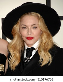 LOS ANGELES - JAN 26:  Madonna  arrives at the 56th Annual Grammy Awards Arrivals  on January 26, 2014 in Los Angeles, CA