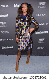 LOS ANGELES - JAN 26:  Melanie Liburd arrives to Entertainment Weekly honors Nominees for the Screen Actors Guild Awards  on January 26, 2019 in Hollywood, CA