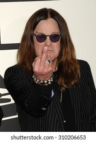LOS ANGELES - JAN 26:  Ozzy Osbourne arrives at the 56th Annual Grammy Awards Arrivals  on January 26, 2014 in Los Angeles, CA