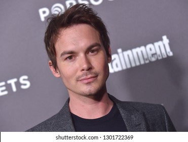 LOS ANGELES - JAN 26:  Tyler Blackburn arrives to Entertainment Weekly honors Nominees for the Screen Actors Guild Awards  on January 26, 2019 in Hollywood, CA