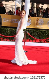 LOS ANGELES - JAN 27:  Jayma Mays arrives at the 2013 Screen Actor's Guild Awards at the Shrine Auditorium on January 27, 2013 in Los Angeles, CA