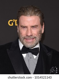 LOS ANGELES - JAN 27:  John Travolta arrives for the G'Day USA Gala 2018 on January 27, 2018 in Los Angeles, CA