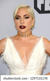 LOS ANGELES - JAN 27:  Lady Gaga at the 25th Annual Screen Actors Guild Awards at the Shrine Auditorium on January 27, 2019 in Los Angeles, CA