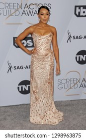 LOS ANGELES - JAN 27:  Melanie Liburd at the 25th Annual Screen Actors Guild Awards at the Shrine Auditorium on January 27, 2019 in Los Angeles, CA