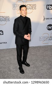 LOS ANGELES - JAN 27:  Rami Malek at the 25th Annual Screen Actors Guild Awards at the Shrine Auditorium on January 27, 2019 in Los Angeles, CA