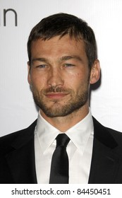 LOS ANGELES - Jan 28:  Andy Whitfield arriving at the Celebration of L.A. ARTS MONTH at Calvin Klein Store on January 28, 2010 in Los Angeles, CA
