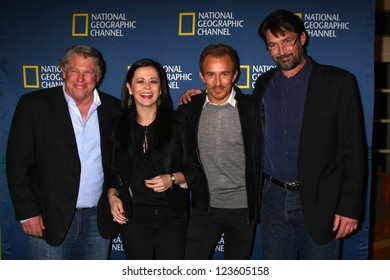 """LOS ANGELES - JAN 3:  Graham Beckel, Geraldine Hughes, Jesse Johnson and Billy Campbell arrives at the National Geographic """"2013 Winter TCA"""" Party. at Langham  Hotel on January 3, 2013 in Pasadena, CA"""