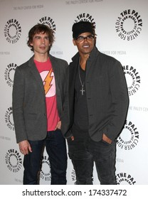 """LOS ANGELES - JAN 30:  Christopher Gorham, Shemar Moore at the """"Justice League: War"""" at Paley Cener at Paley Center For Media on January 30, 2014 in Beverly Hills, CA"""