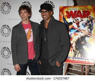 "LOS ANGELES - JAN 30:  Christopher Gorham, Shemar Moore at the ""Justice League: War"" at Paley Cener at Paley Center For Media on January 30, 2014 in Beverly Hills, CA"