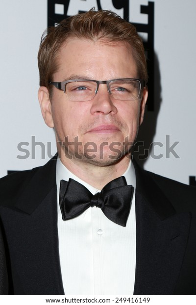 LOS ANGELES - JAN 30:  Matt Damon at the 65th Annual ACE Eddie Awards at a Beverly Hilton Hotel on January 30, 2015 in Beverly Hills, CA