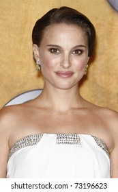 LOS ANGELES - JAN 30:  Natalie Portman in the press room at The 17th Annual SAG Awards held at the Shrine Auditorium in Los Angeles, California on January 30, 2011.